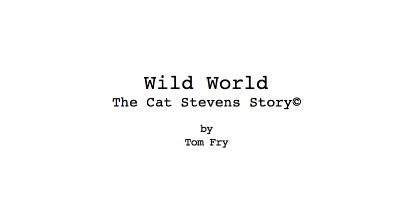 Wild World Screenplay
